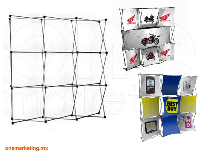 Display tipo Display Araña 3x3 Nacional OM-DP-42 de One Marketing Expo Stands y Displays