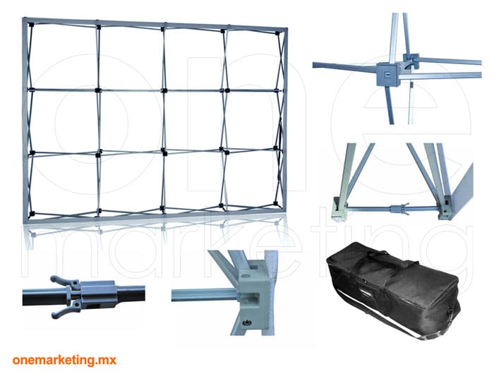 Display tipo Display Araña 4x3 Importada OM-DP-45 de One Marketing Expo Stands y Displays