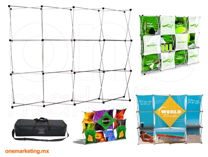 Display tipo Display Araña 4x3 Nacional OM-DP-44 de One Marketing Expo Stands y Displays