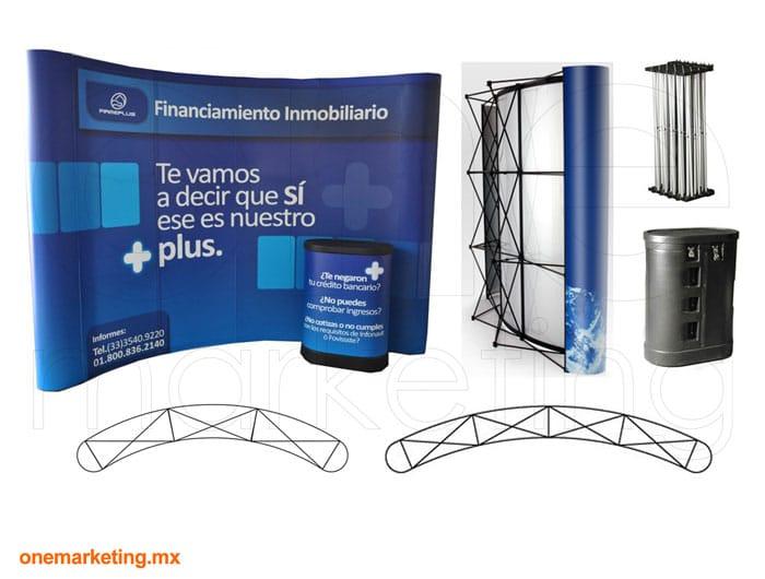 Display tipo Display Araña Flex Curva OM-DP-46 de One Marketing Expo Stands y Displays