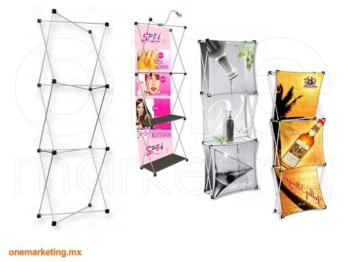 Display tipo Display Araña Torre  OM-DP-40 de One Marketing Expo Stands y Displays