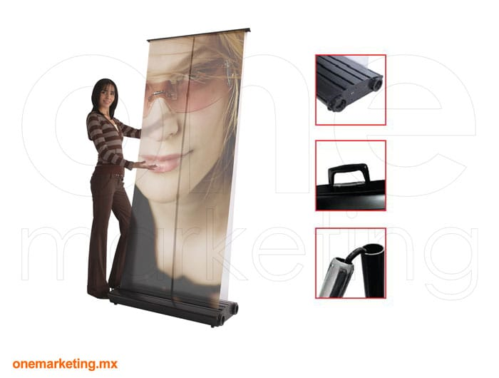 Roll up Exterior de Aluminio código OM-RU-5 de One Marketing Stands y Displays