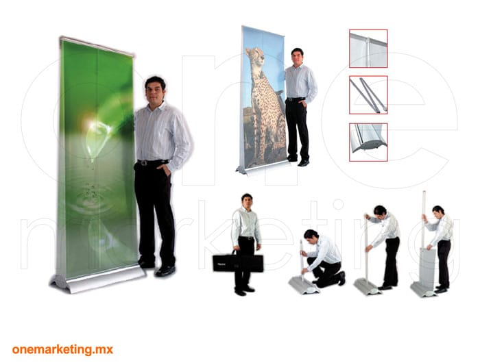 Roll Up Reforzado de Aluminio código OM-RU-2 de One Marketing Stands y Displays
