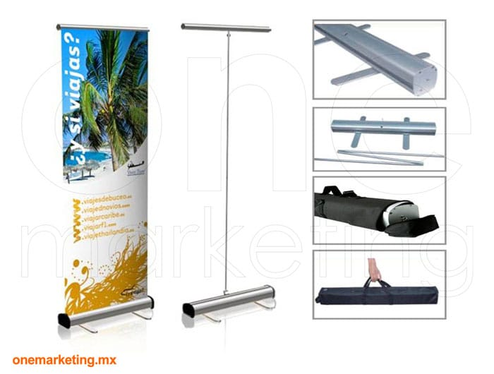 Roll Up Standard de Aluminio código OM-RU-1 de One Marketing Stands y Displays