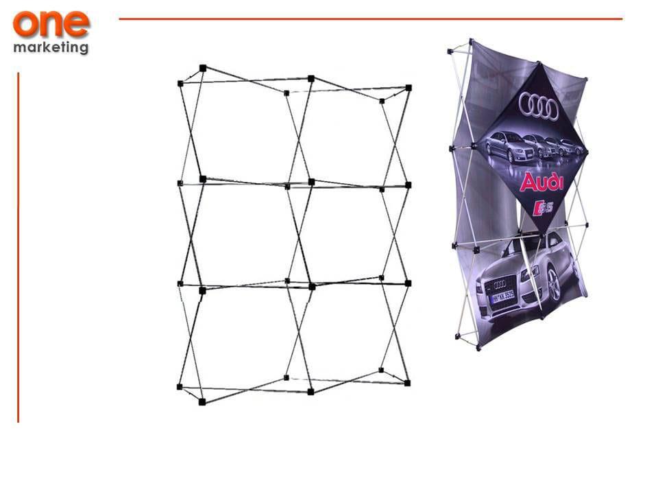 Promoción Pared 2x3 de Aluminio de Promociones One Marketing