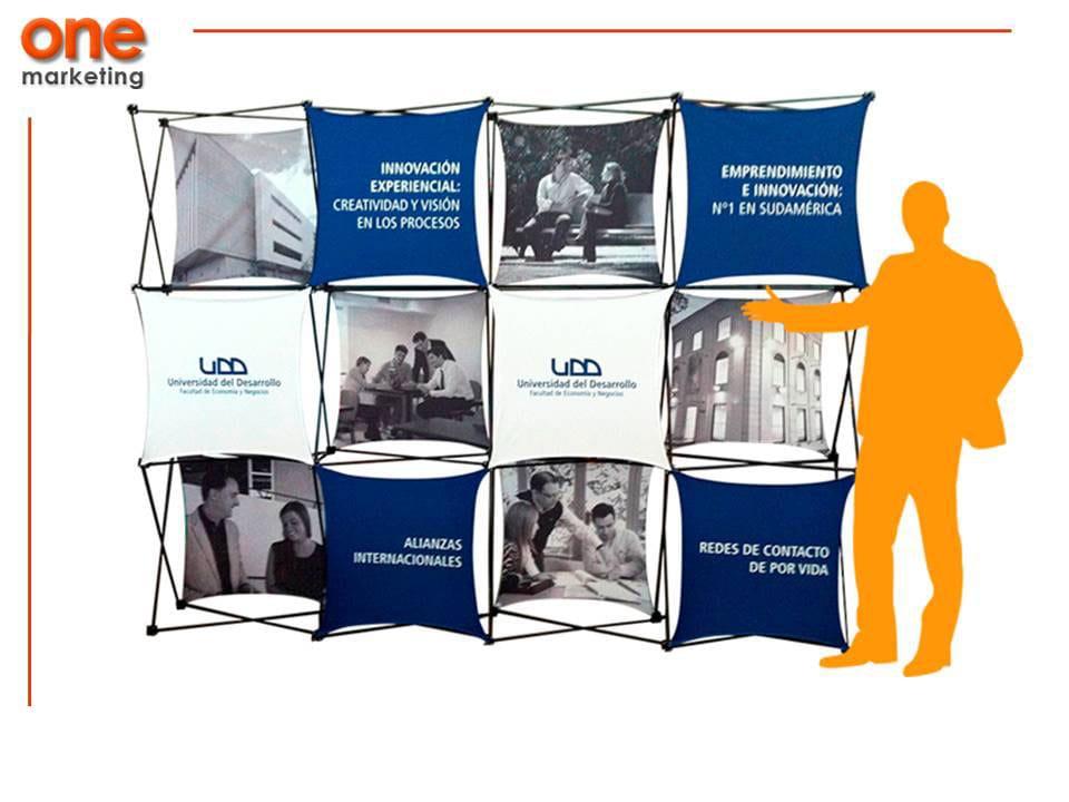 Promoción Pared 4x3 de Aluminio de Promociones One Marketing