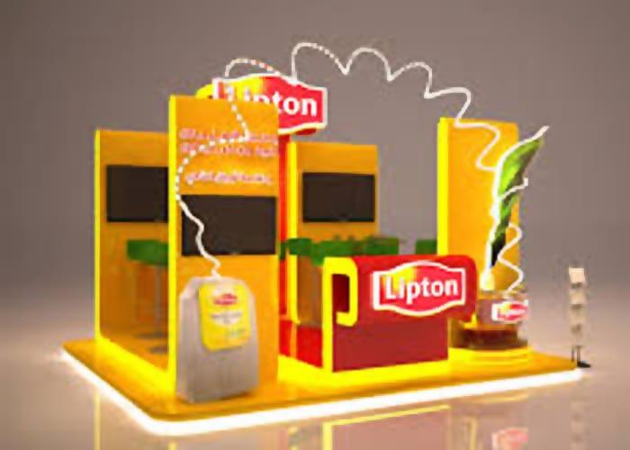 Un Stand Custom de One Marketing está hecho con el sistema Custom y se personaliza de acuerdo con las necesidades del cliente.