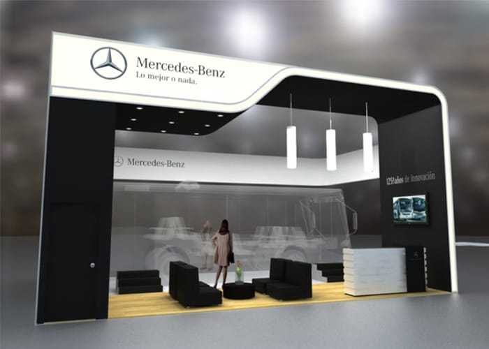 Ejemplo de Stand Custom para Mercedes-Benz de One Marketing Expo Stands y Displays