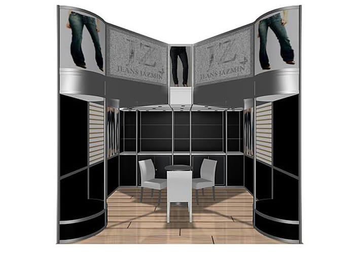 Ejemplo de Stand Octanorm 3x3 Cajón para JZ de One Marketing Expo Stands y Displays