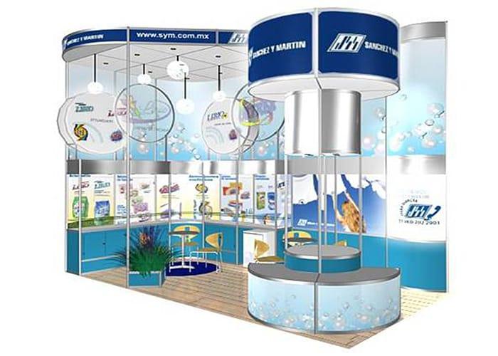 Ejemplo de Stand Octanorm 3x6 Doble Altura de One Marketing Expo Stands y Displays