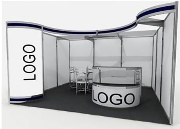Un Stand Octanorm de One Marketing permite reducir el presupuesto para su espacio de exhibición gracias al sistema Octanorm.