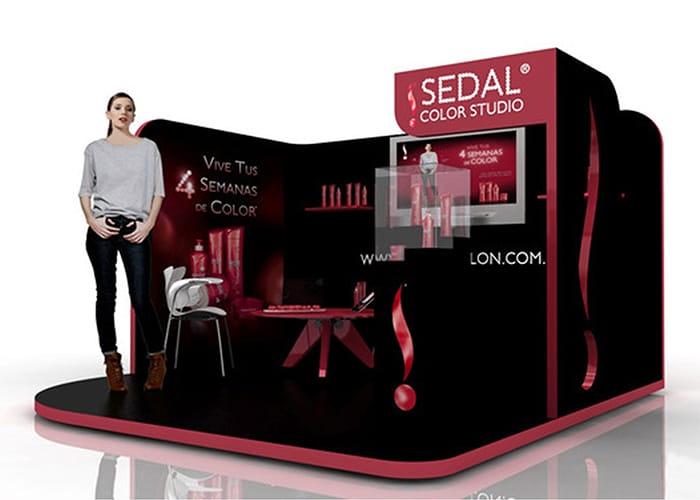 Ejemplo de Stand para Plaza en pasillo para Sedal de One Marketing Expo Stands y Displays