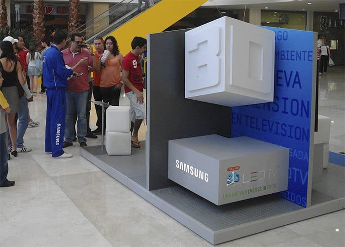 Ejemplo de Stand para Plaza en pasillo para Samsung de One Marketing Expo Stands y Displays