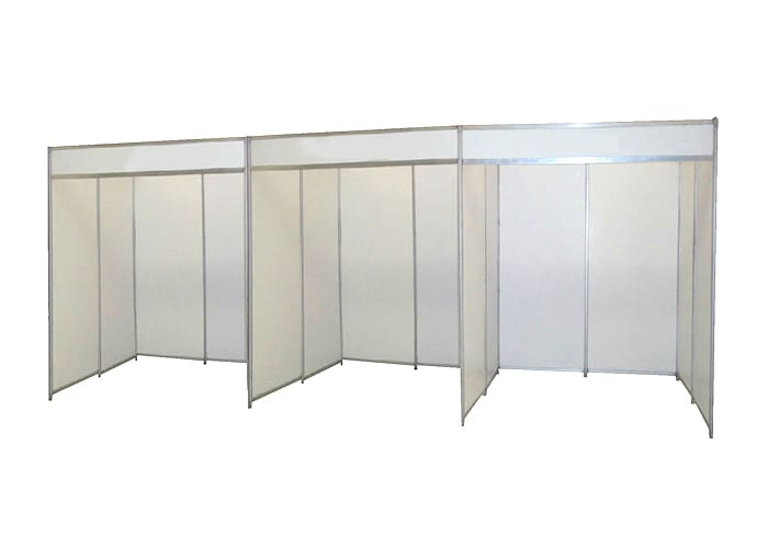 Ejemplo de Stand de Línea 2x2 de One Marketing Expo Stands y Displays