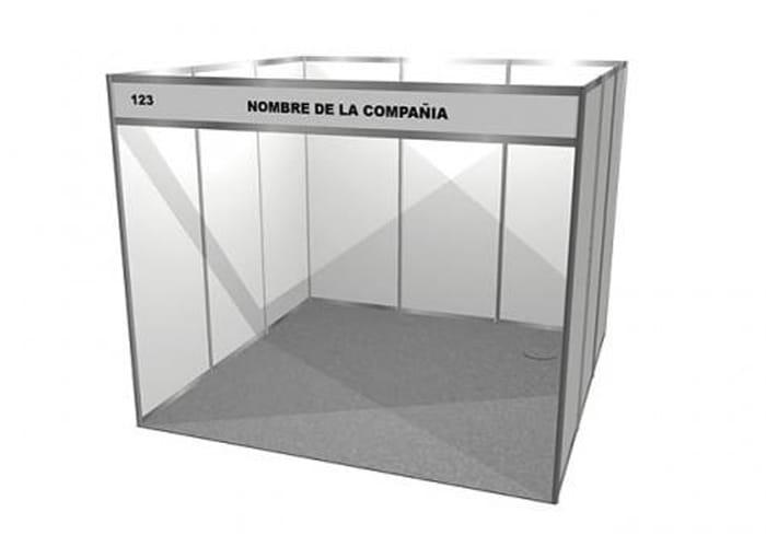 Ejemplo de Stand de Línea 3x3 de One Marketing Expo Stands y Displays