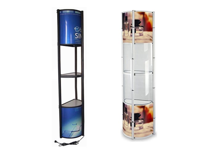 Display tipo Torre Twister Media Luna de One Marketing