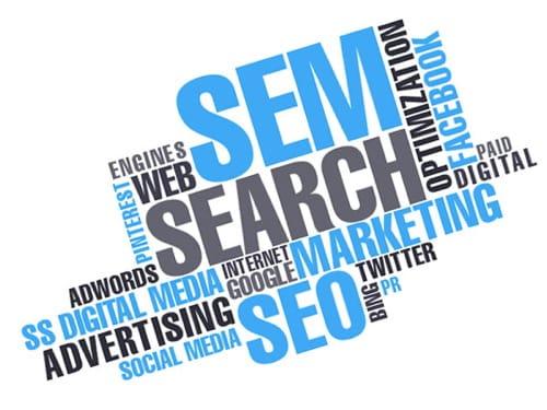 SEM es uno de los servicios Web en One Marketing